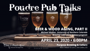 Poudre Pub Talk: Beer and Wood Aging, Part II @ Purpose Brewing and Cellars | Fort Collins | Colorado | United States