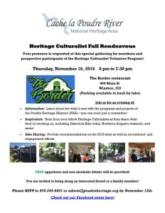Heritage Culturalist Fall Rendezvous! @ The Border | Windsor | Colorado | United States