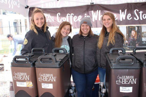 Human Bean team ready to serve their delicious coffees
