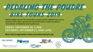 Pedaling the Poudre: Water Education CO (Sept 20) @ Bellvue | Colorado | United States