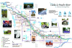 Cache la Poudre River National Heritage Area Map 2020
