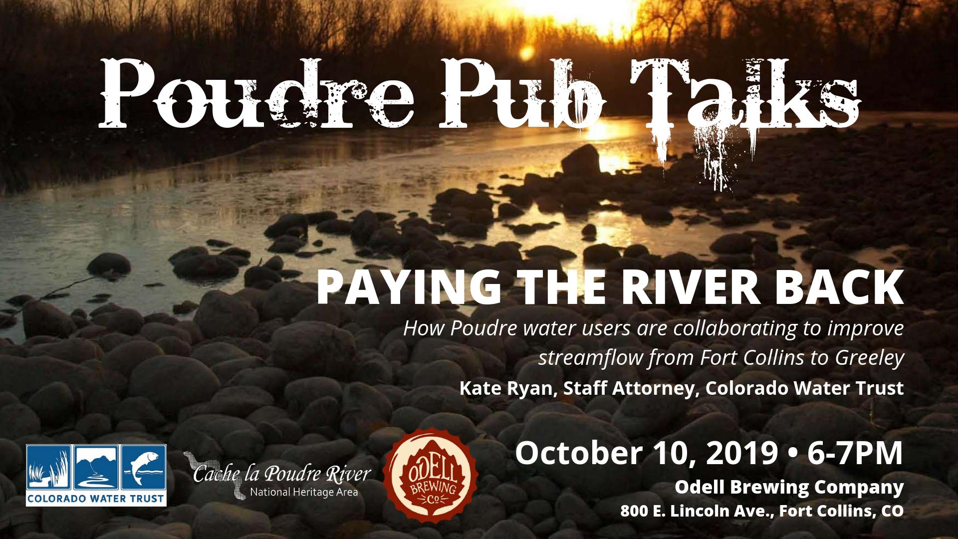 Poudre Pub Talk-Oct 10 2019