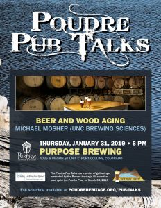 Poudre Pub Talk: Beer and Wood Aging @ Purpose Brewing and Cellars | Fort Collins | Colorado | United States