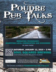 Poudre Pub Talk: Irrigation Technology @ Soul Squared Brewing Company   Wellington   Colorado   United States